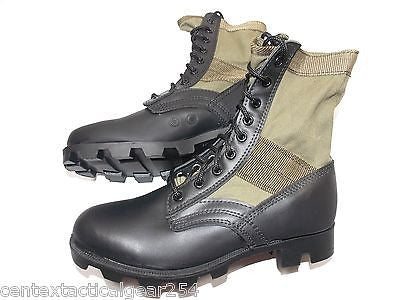 Military GI Style OD Green Vietnam Jungle Boots Olive Drab Combat Boot Panama Sole
