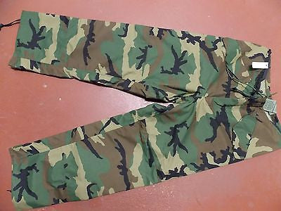 Military Woodland Camouflage GORE-TEX Trousers BDU GORETEX Pants Medium/Long