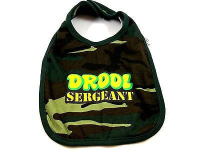 Military Camouflage Baby Bib Cloth Woodland Camo Drool Sergeant
