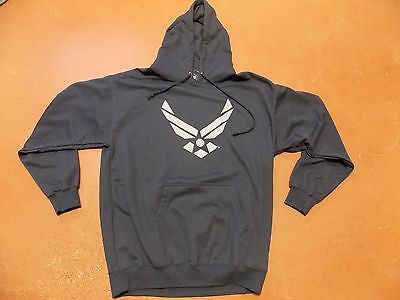 US AIR FORCE HOODIE SWEATSHIRT SWEATER BLUE AIRMEN LOGO XL X-LARGE