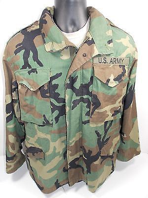 Military Army Field Jacket Cold Weather Coat Woodland BDU Camo M65 M1965 M-65