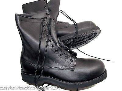 Black Military Steel Toe Boots Addison Safety Boot Leather Non-Slip 12.5 XW
