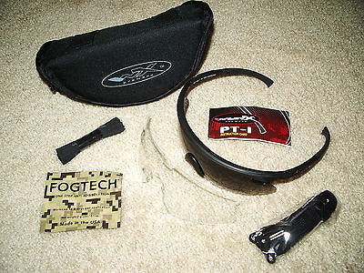 Wiley X PT-1 Tactical Shooting Sun Glasses Kit Clear, Smoke, & Case