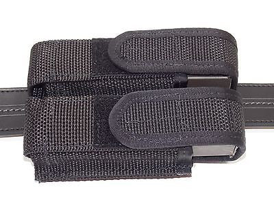 Police Law Enforcement Double Pistol Magazine Pouch Vertical or Horizontal Mount