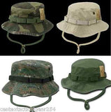 Military Style Boonie Cap Sun Hat Mil-Spec Vintage Washed Fatigue Bush Headgear