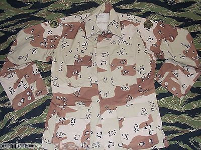 Military Desert Storm Uniform Top BDU Chocolate Chip Pattern Coat Medium/Reg