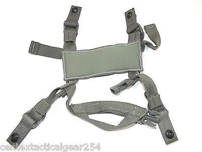 ACH Combat Helmet Kevlar 4 Point Chin Strap with Hardware Foliage Grey Color