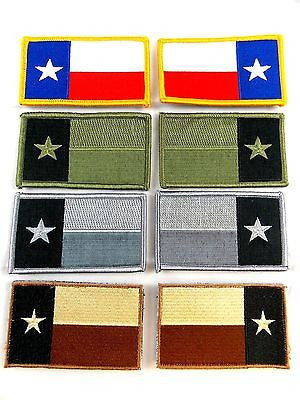 Military Uniform Tactical Texas Flag Patch Velcro Backing Forward & Reverse Face