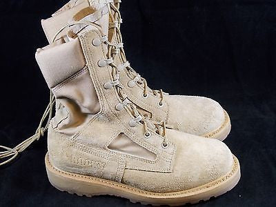 ROCKY Military Desert Army Combat Boots Hot Weather Boot Vibram Soles 7.5 W
