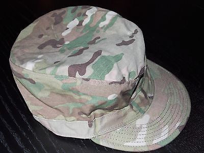 Army Multicam PC Hat Patrol Cap OCP w/ Velcro Backing & Map Pocket