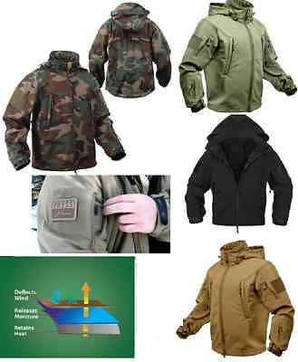 Military Law Enforcement Cold Weather Soft Shell Tactical Jacket Spec Ops Parka
