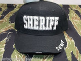 SHERIFF Ball Cap Olive Drab or Black Embroidered Logo Tactical Baseball Hat