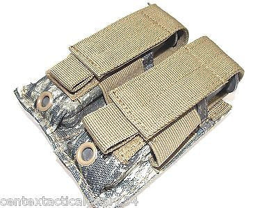MOSSY OAK Tactical MOLLE Double Magazine Pistol Mag Pouch Velcro Flap Closure
