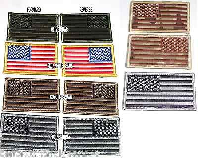 US Military American Flag Velcro Uniform Patch USA Army Patch Forward & Reverse