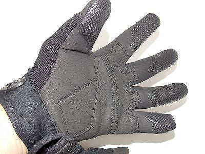 Black Padded Knuckle Tactical Combat Gloves All Purpose Duty Shooting Glove NEW
