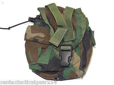 Military Surplus MOLLE II 1 Quart Canteen General Purpose Pouch Woodland BDU
