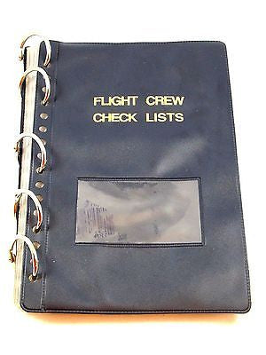 Flight Crew Check List Military Aviation Aircrew Ring Binder Organizer Inserts