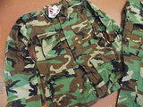 MILITARY BDU UNIFORM SET WOODLAND CAMO SHIRT & PANTS MEDIUM REGULAR BDUs