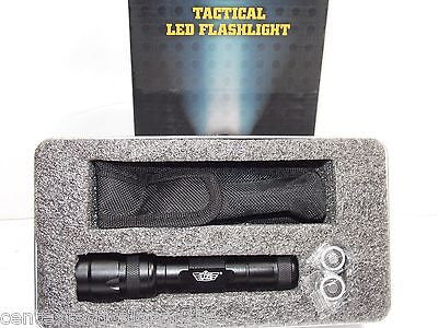 Hand Held Tactical Flashlight w/ Belt Clip Duty Light White LED 110 Lumens