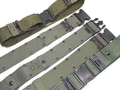Military Surplus GI Pistol Belt Olive Drab Individual Equipment Web Gear ALICE