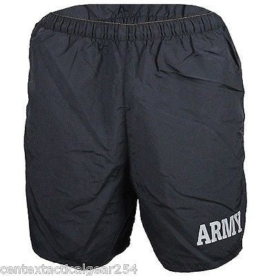 US Army PT Shorts Physical Fitness Training Swim Trunk Short Reflective Logo NEW