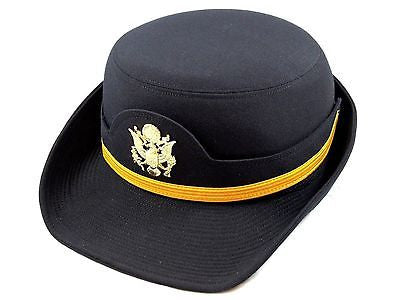Army Female Dress Blues ASU Hat Officer Woman's Cap Service Uniform CG Sz:24