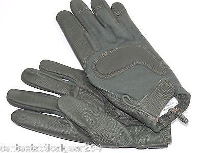 HWI HATCH LARGE KEVLAR GOATSKIN FOLIAGE GREEN COMBAT GLOVES HCG-0014 LRG