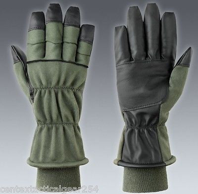 Military Intermediate Cold Weather Flyers Glove NOMEX Gloves HAU-15P Green NEW!!