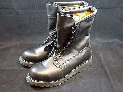 Military Black Leather Intermediate Cold Weather Combat Boots sz:11.5 R