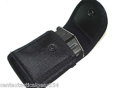 Police Law Enforcement Security Double Pistol Mag Case Duty Belt Holster Pouch