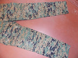 USMC Woodland Digital MARPAT Trousers Cargo Pants Marine Corps Small/Long