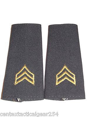Army Insignia Shoulder Marks Enlisted SGT Rank Sergeant E-5 Dress Uniform Long