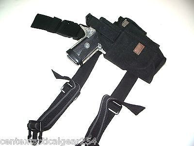 Black Universal Fit Adjustable Pistol/Gun Drop Leg Thigh Holster Right Hand
