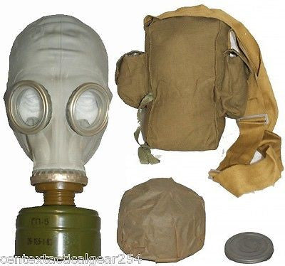 Russian Military Soviet Civilian GP-5 Gas Mask Anti-Fog Lens Filter & Carry Bag