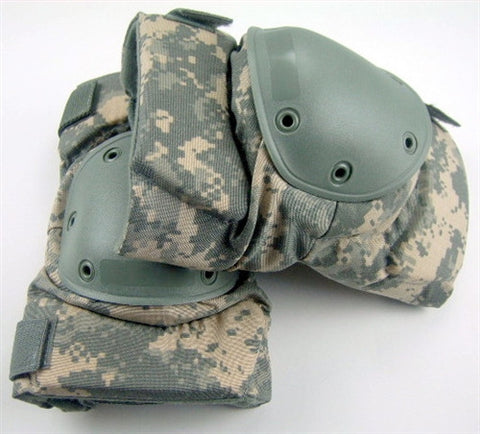 USGI ARMY ISSUE BIJAN'S ACU KNEE PAD SET DIGITAL CAMOUFLAGE PATTERN