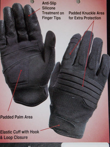 Black Padded Knuckle Tactical Combat Gloves