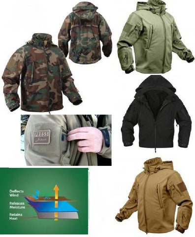 Tactical Soft Shell Jacket Spec Ops Parka