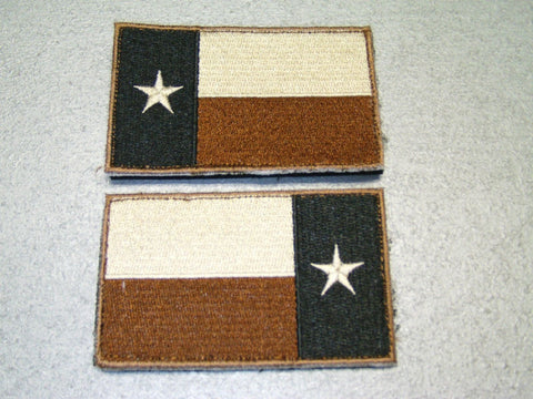 Desert Tan Subdued Texas Flag Patch
