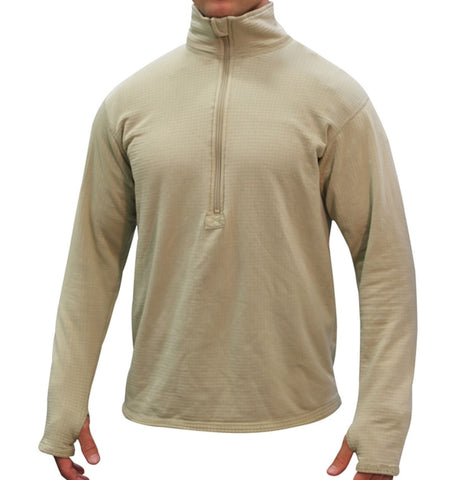 Polartec GEN III Level 2 Grid Fleece Mid-Weight Cold Weather Top Pullover ECWCS