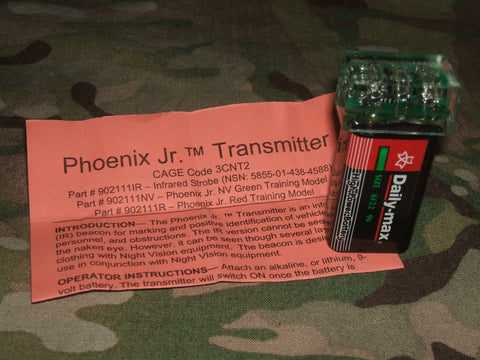Tactical Infrared Strobe Light Phoenix Jr. (Firefly) Transmitter Beacon 9V