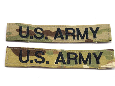 ARMY OCP MULTICAM VELCRO PATCH US ARMY NAME TAPE