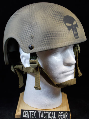 BALLISTIC LEVEL IIIA TACTICAL GUNFIGHTER HELMET LEVEL III A LARGE