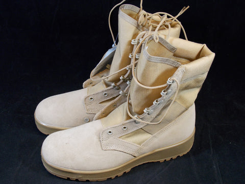 Military Issue Desert Army Combat Boots Hot Weather Boot Vibram Soles
