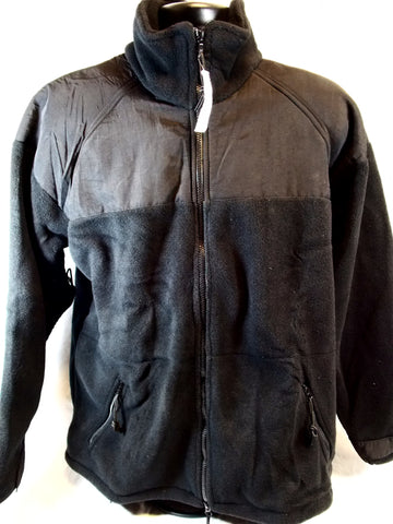 Black Polartec Fleece Jacket Classic 300 Military Issue Cold Weather Top ECWCS