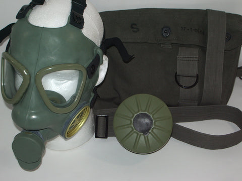 Serbian Army Gas Mask with Filter & Carry Bag
