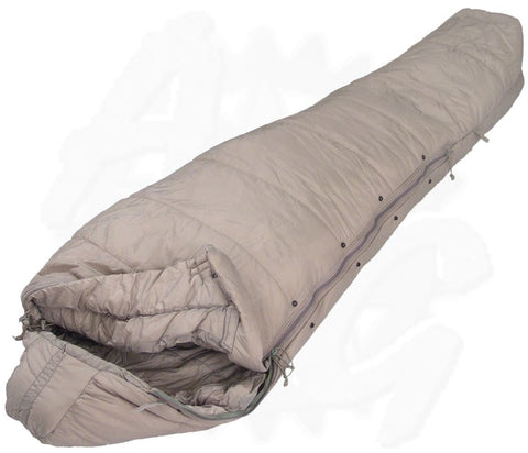 ARMY GREY INTERMEDIATE COLD WEATHER SLEEPING BAG 8465-01-547-2694
