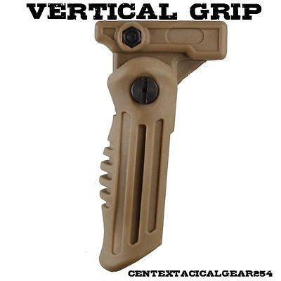 Tan/Coyote Brown Vertical Rifle/Weapon Grip 4 Position Stubby for Picatinny Rail