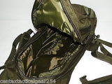 OD Green Compact Tactical Hydration System Backpack w/ Bladder Webbing & Storage