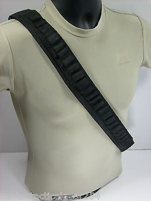 .223/5.56 Ammunition Bullet Belt Tactical Rifle Round Bandoleer 24 Elastic Loops