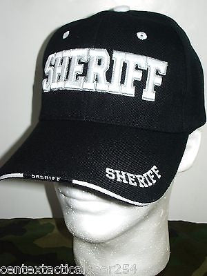 Black Sheriff Law Enforcement Officer Safety Patrol Uniform Hat Ball Cap Cover